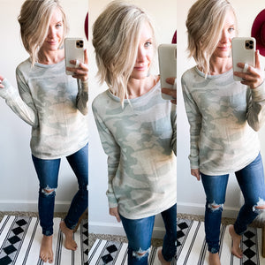 Cozy Camo Top - Maple Row Boutique