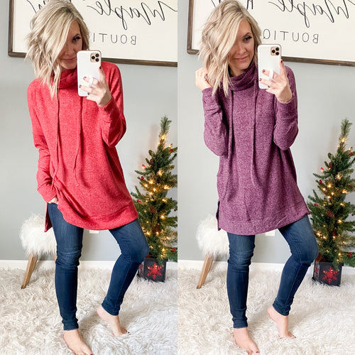 Brushed Sweater Tunic - Maple Row Boutique