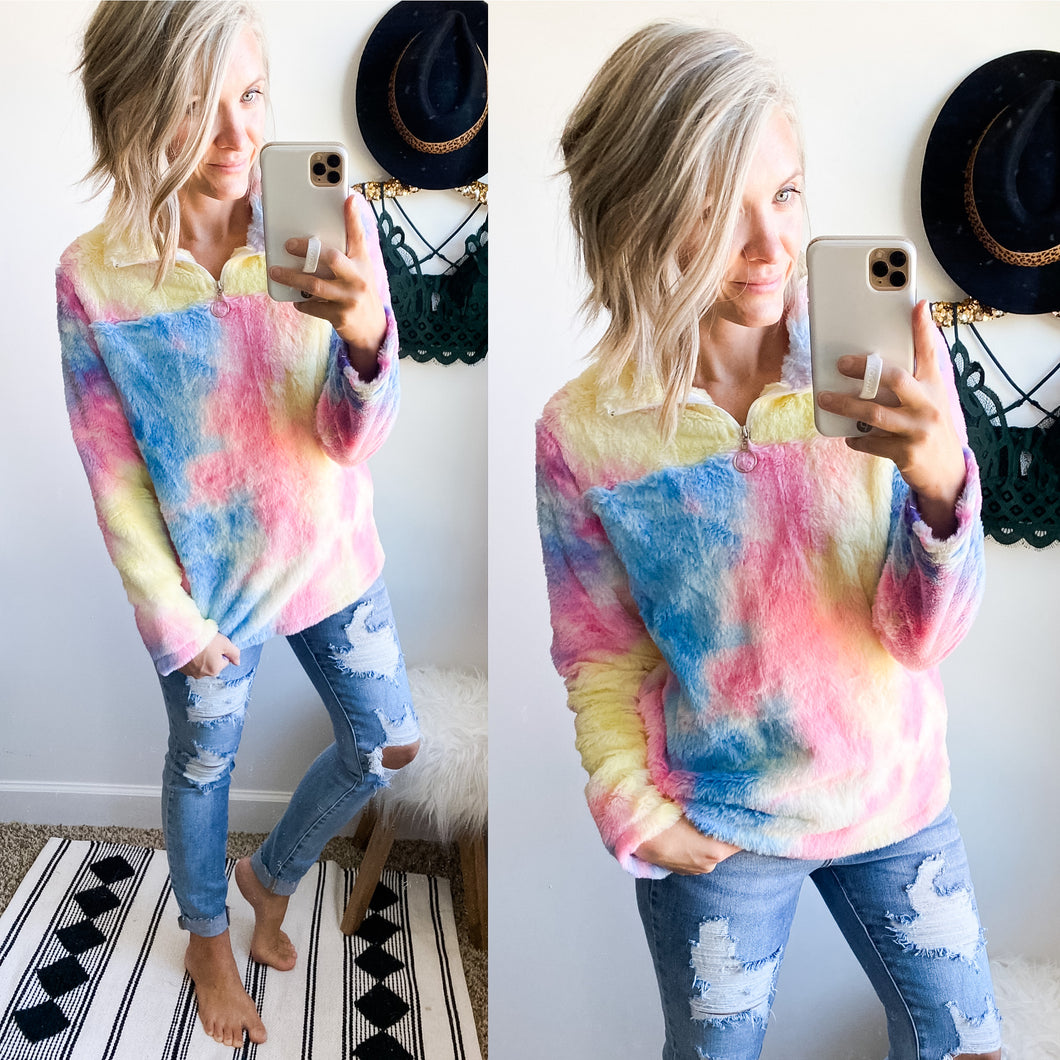 Cotton Candy Pullover - Maple Row Boutique