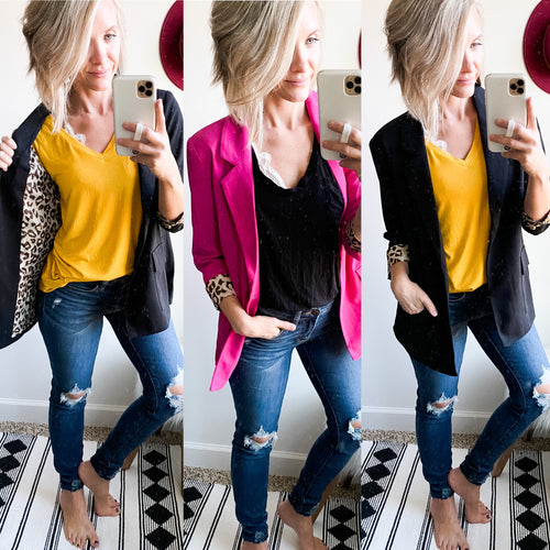 Hey Girl Blazer - Maple Row Boutique
