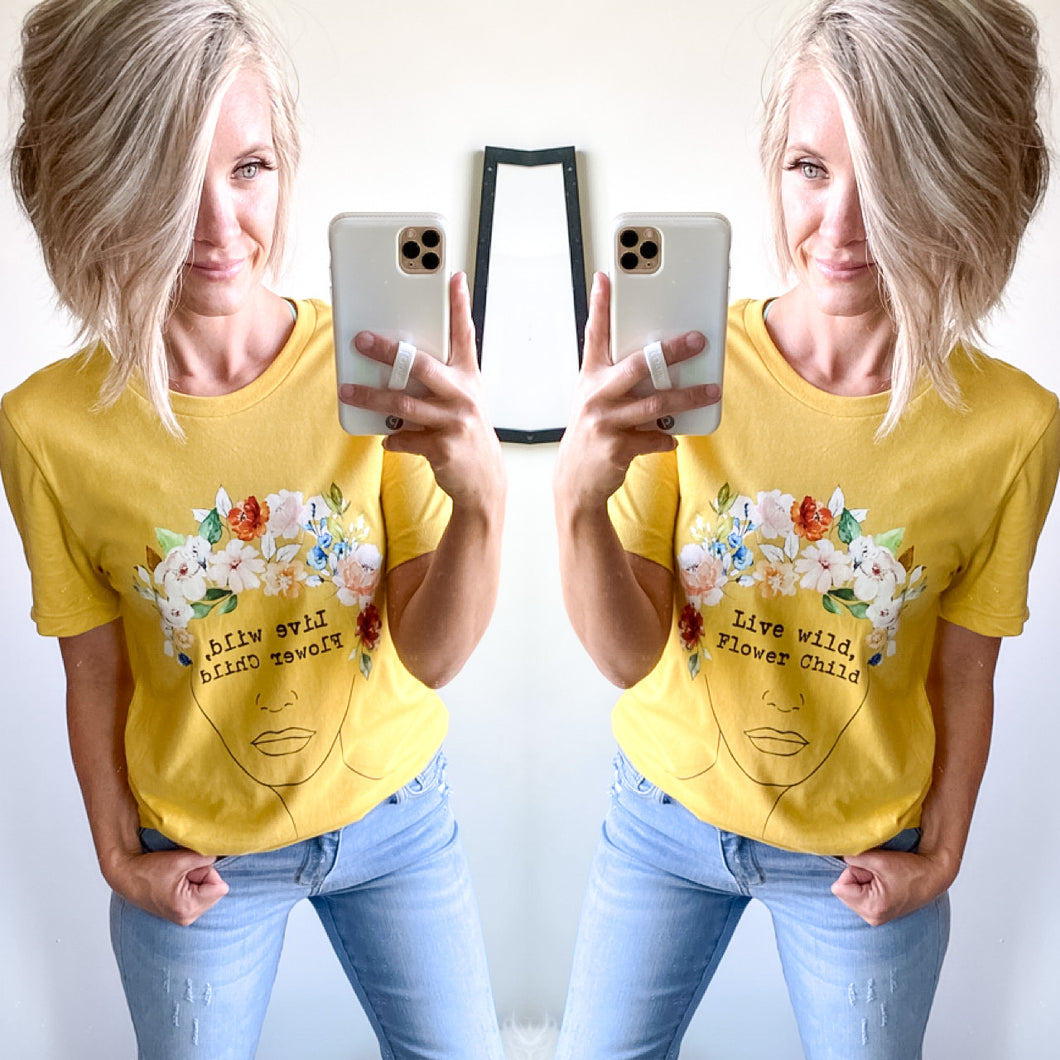 Flower Child Tee - Maple Row Boutique