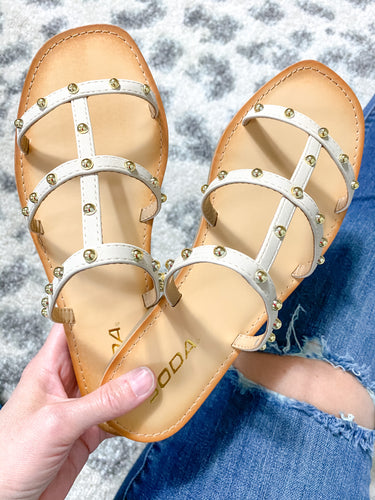 Wisdom Studded Sandals - Maple Row Boutique