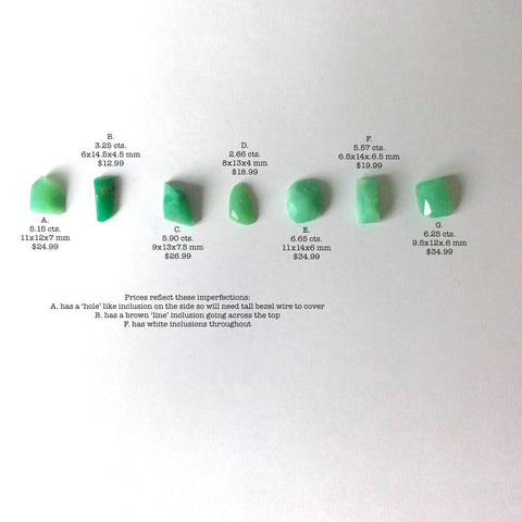 CUSTOM ORDER FOR LAURA. Chrysoprase faceted cabs. 2 pcs. A, G - Siam Gem Palace - 1