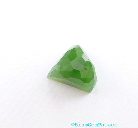 GREEN Jade Faceted Cabochon. Natural nephrite jade. From British Columbia Canada. No Treatments. Can BE Drilled. 10.22 cts 12x12x8mm (JD223) - Siam Gem Palace - 1