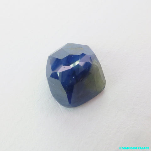 Sapphire Cabochon. 100% Natural Unheated / Untreated. Tavernier Rose Cut. Geometric. 8.44 cts. 11x13x7 mm (S1943) - Siam Gem Palace - 1