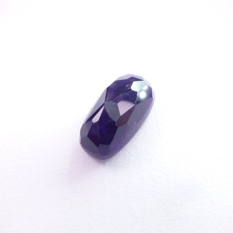 AMETHYST Cabochon. Natural Grape Jelly Color. Micro Facet Cab.  1 pc. 5.49 cts. 7.5x14.5x6 mm  (AM1462)