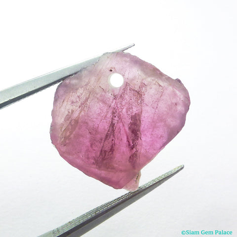TOURMALINE Slice BEaD. Natural Tourmaline. Pendant, Focal Beads. Polished. 1 pc. 5.85 cts. 14x18x6 mm (TM2367)