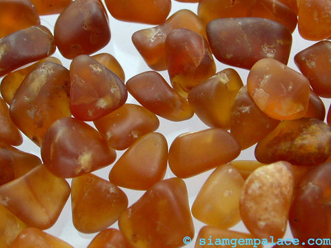 Hessonite Garnet. CYBER Week Specials - Limited Supply. Tumbled Rough Cabochon Grade Great for cutting or AS IS 40 Grams (Ga116) - Siam Gem Palace - 1