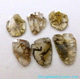 DiAMOND SLiCES. TiGER STRiPes. Faceted. Natural. Free Form. 1 pc. 0.75 cts. 8x10.5mm (Dia220E) - Siam Gem Palace - 4
