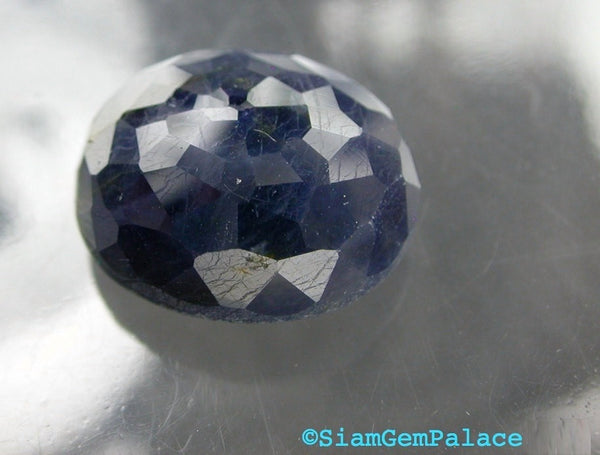 SAPPHIRE. Navy Blue. Natural. Oval Micro Facet Cabochon. 20cts. 14.6x16.6 MM (S299) - Siam Gem Palace - 1
