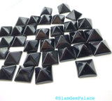 ONYX parcel. Natural. STuD CABoCHONS. PYRAMiDs. Large. 2 pc. 8 cts. 10 mm (Ox172-2) - Siam Gem Palace - 4