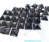ONYX parcel. Natural. STuD CABoCHONS. PYRAMiDs. Large. 2 pc. 8 cts. 10 mm (Ox172-2) - Siam Gem Palace - 2
