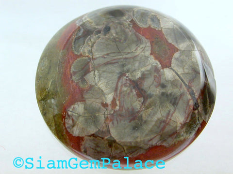 "DiScOuNtEd PrIcE Arizona Mushroom Jasper. LARGE. ROUND. Rare Material.Can Be Drilled. 35mm (Mj110) <color = ""green""></color> - Siam Gem Palace - 1"