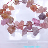 SPINEL Beads. Natural. OCTAHEDRoN Geometric BeADS. Strand of Pairs 139 cts. 8x8 - 9x13 mm (Sp93) - Siam Gem Palace - 5
