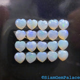 OPaL. Natural. Heart SHAPE. White Jelly OPal. Australian SOLiD Opal. 5 pc. 0.80 cts. 4 mm  (Op534) - Siam Gem Palace - 2