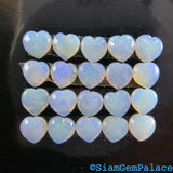 OPaL. Natural. Heart SHAPE. White Jelly OPal. Australian SOLiD Opal. 5 pc. 0.80 cts. 4 mm  (Op534) - Siam Gem Palace - 5