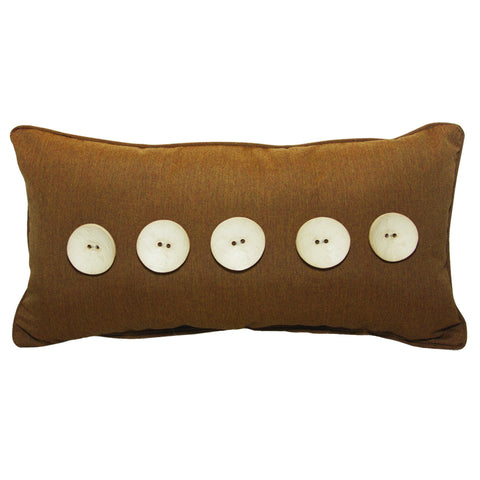 "Five Button<br><small>12""x22"" - Canvas Teak</small>"
