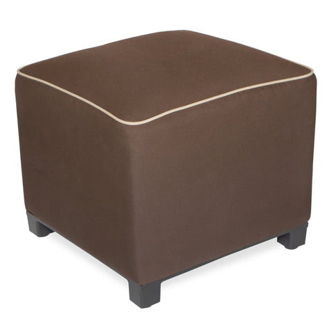 "Upholstered Pouf<br><small>18""x18""x18"" - Canvas Bay Brown</small>"