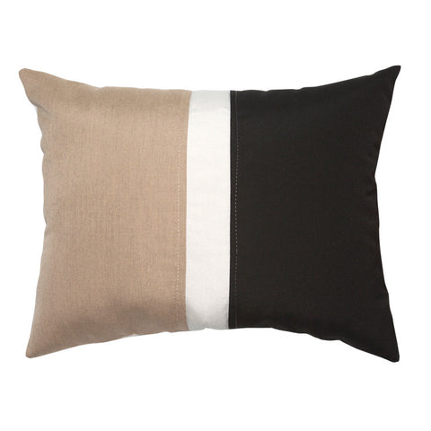 "Colorblock<br><small>Heather Beige / Black<br>16""x20""</small>"
