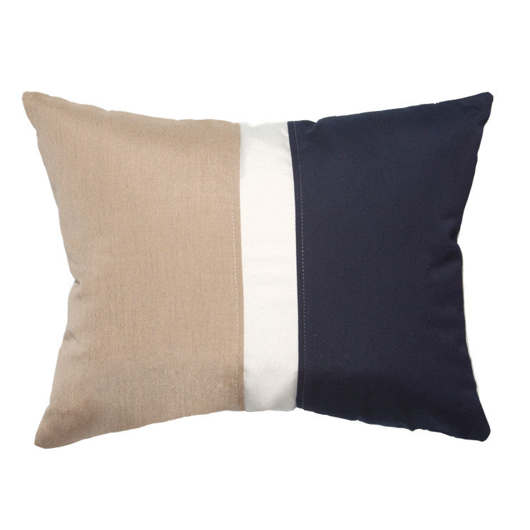 "Colorblock<br><small>Heather Beige / Navy<br>16""x20""</small>"
