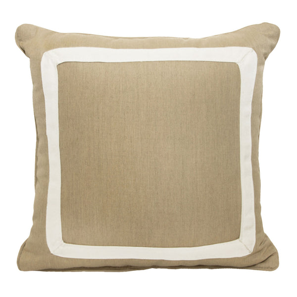 "Canvas Border<br><small>18""x18"" - Canvas Heather Beige</small>"