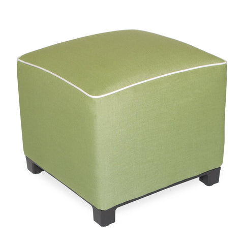 "Upholstered Pouf<br><small>18""x18""x18"" - Spectrum Cilantro</small>"