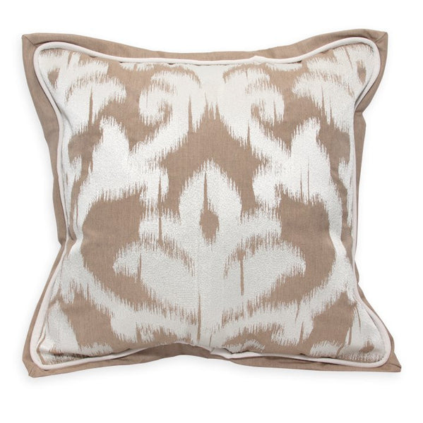 "Damask Embroidery<br><small>18""x18"" - Canvas Heather Beige</small>"