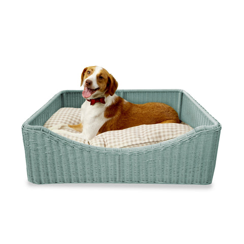 CountryLiving Yappy Hour Dog Bed in Haint Blue