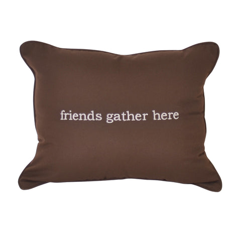 "Friends Embroidery<br>16""x20"" - Canvas Bay Brown</small>"
