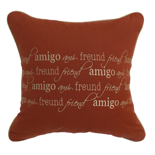 "Friends - Amigo Embroidery<br><small>20""x20"" - Canvas Henna</small>"