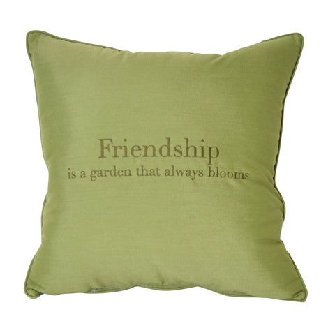 "Friendship is a Garden<br><small>24""x24"" - Spectrum Cilantro</small>"