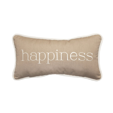 "Happiness Embroidery<br><small>12""x22"" - Canvas Heather Beige</small>"