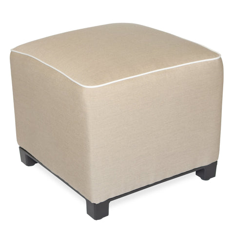 "Upholstered Pouf<br><small>18""x18""x18"" - Canvas Heather Beige</small>"