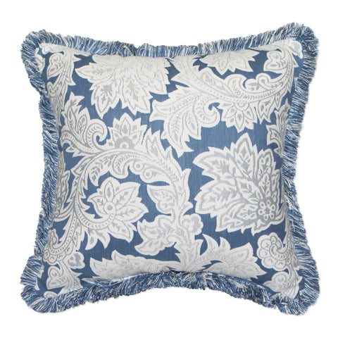 "Jacobean Spring with Fringe<br><small>18""x18""</small>"