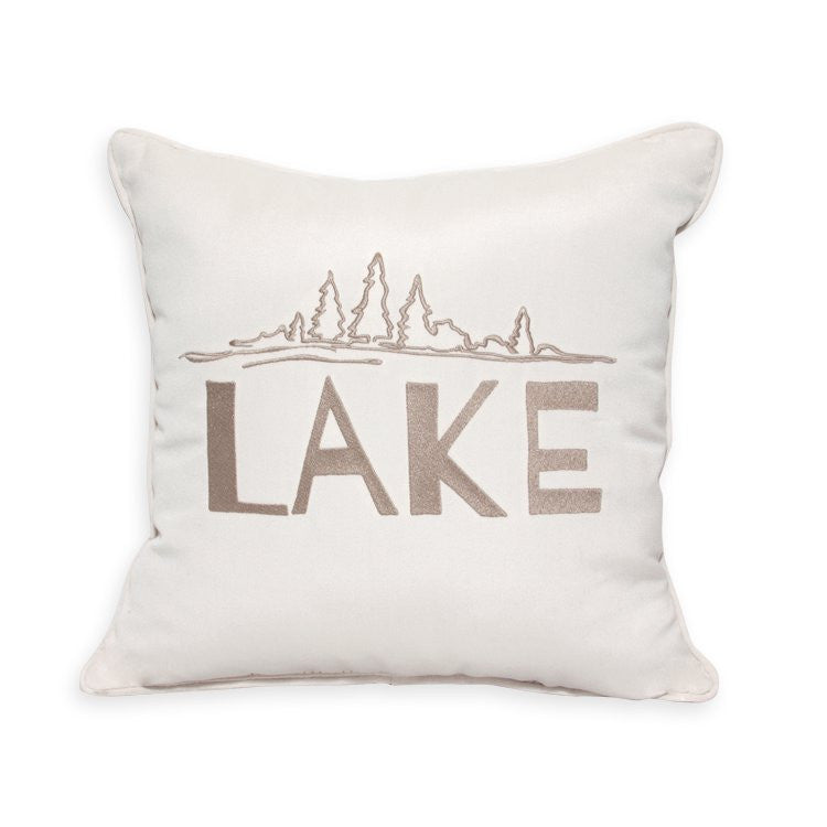 "Lake Embroidery<br><small>16""x16"" - Canvas Canvas</small>"
