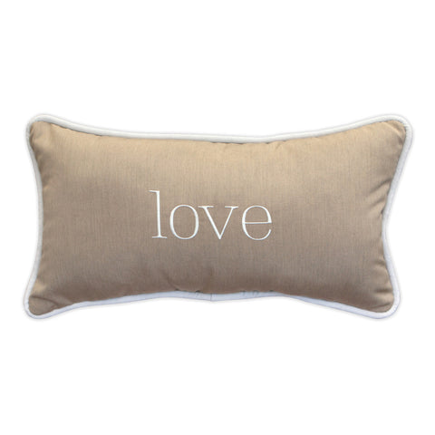 "Love Embroidery<br><small>12""x22"" - Canvas Heather Beige</small>"