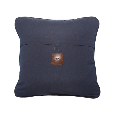 "Canvas Navy with Button<br><small>16""x16""</small>"
