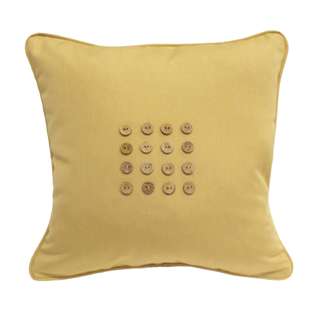 "Sixteen Button<br><small>18""x18"" - Canvas Wheat</small>"