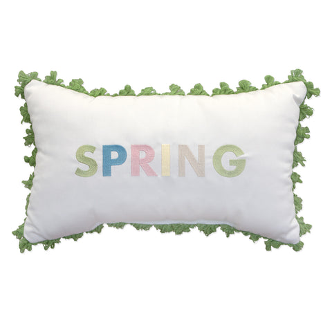 "Spring Embroidery with Fringe<br><small>12""x20"" - Canvas Canvas</small>"