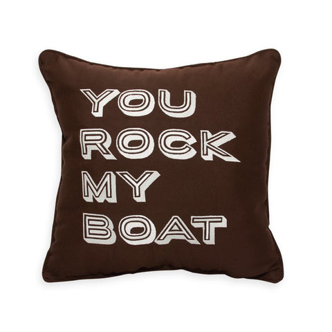 "You Rock My Boat Embroidery<br><small>16""x16""- Bay Brown</small>"