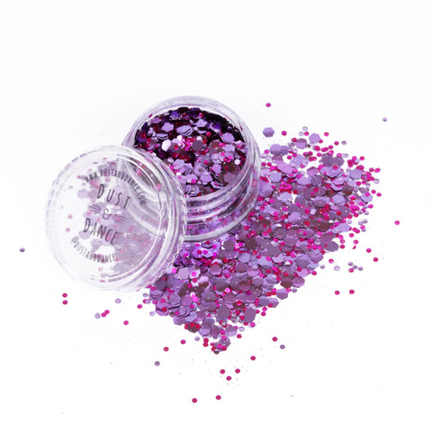 3 Pack - Fine/Medium/Chunky Rose Biodegradable Glitter