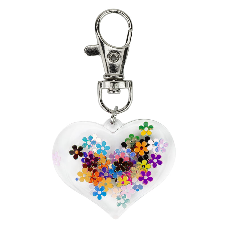 NEW! Resin Heart Keyring – Dust & Dance