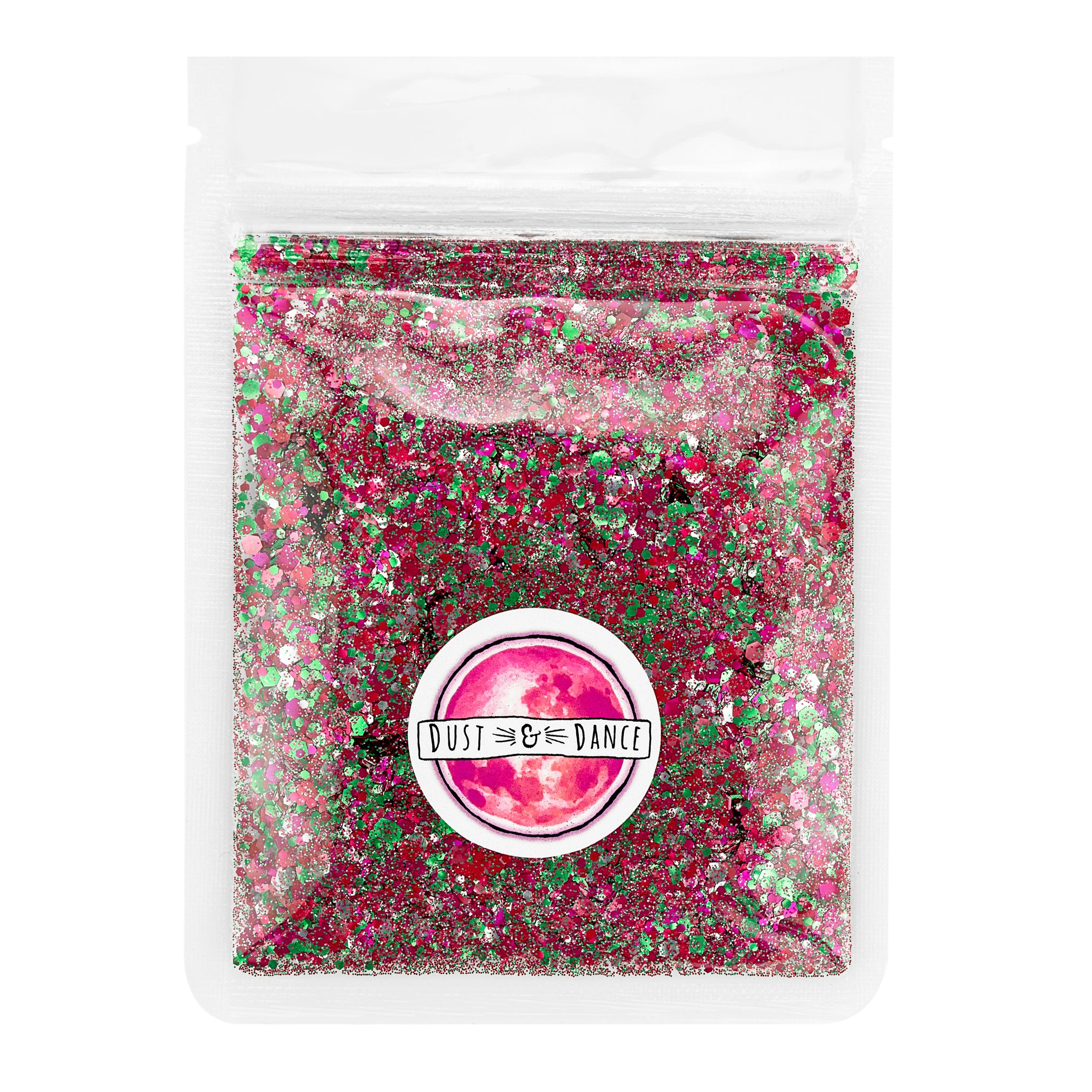 Dust and Dance Bio Biodegradable Eco Friendly Chunky Hair Face Body Festival Glitter Pink Mix 10g bulk pouch
