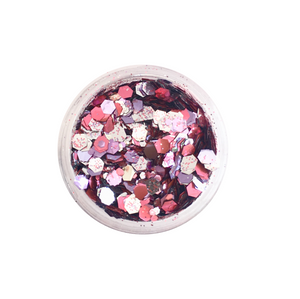 Dust and Dance Bio Biodegradable Eco Friendly Chunky Hair Face Body Festival Glitter Pink Pandora Mix