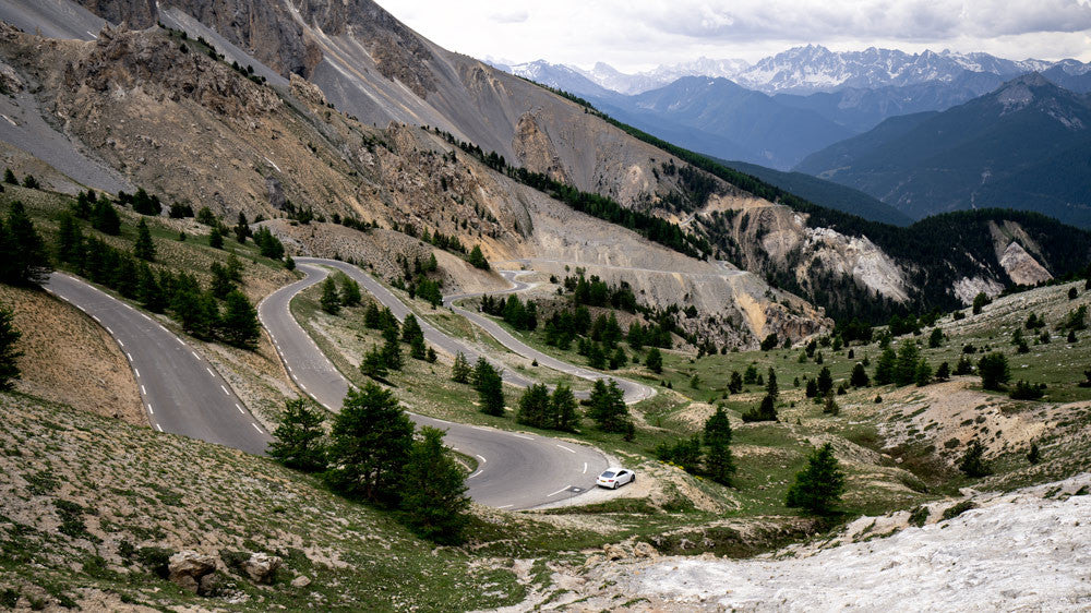 Cycling photography of the Col d'Izoard