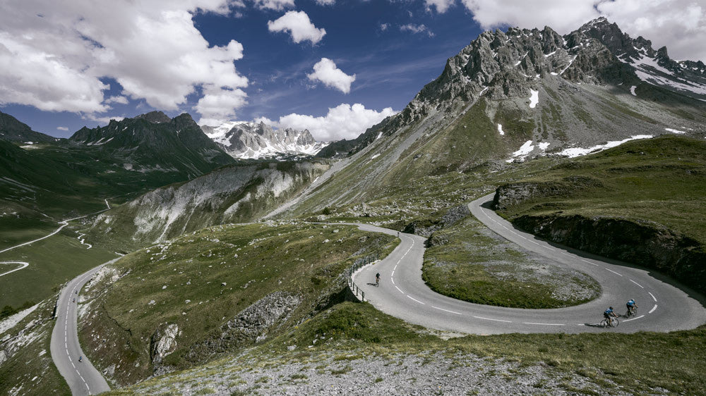 cycling photography of the Col du Galibier
