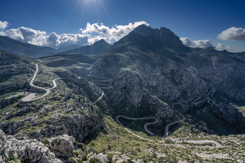 Sa Calobra cycling photography prints by davidt gifts for cyclists, the Great Cycling Road Climbs