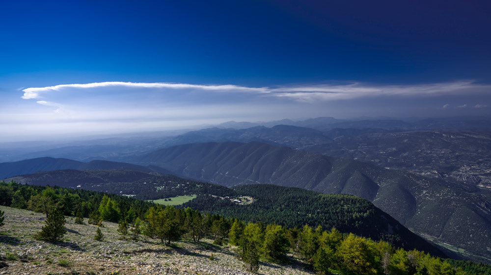 Cycling photography. the view from Mout Ventoux