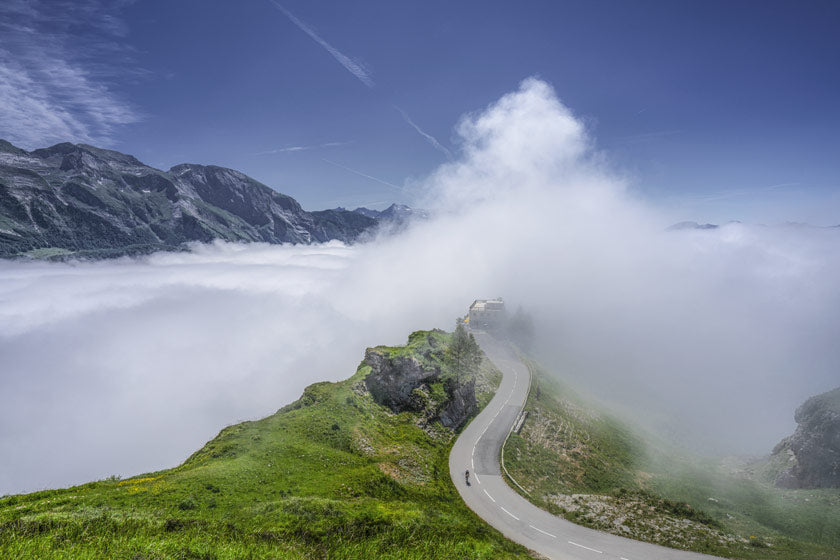 Col d'Abuisque Cycling photography prints gifts for cyclists. One of the Great Cycling Road Climbs by davidt