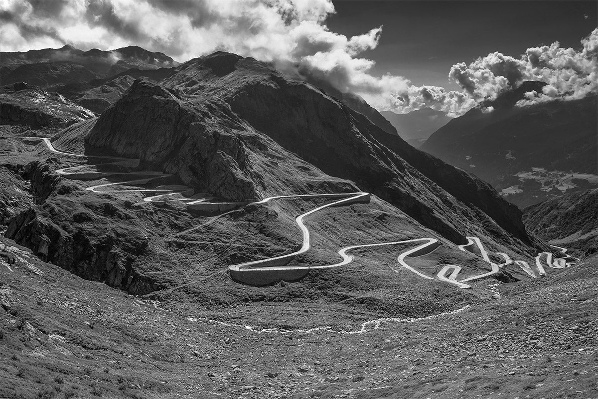 St. Gotthard - Gifts for Cyclists The Great Cycling Road Climbs cycling landscape photography by davidt